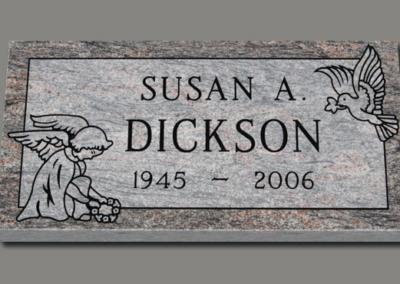 Flat Grass Marker Dickson