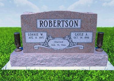 Photo of Upright memorial Robertson
